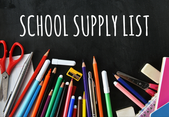 School Supplies Lists for 2019-2020