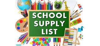 2018-2019 School Supply List!
