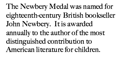 Newbery Description