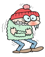 Freezing person image