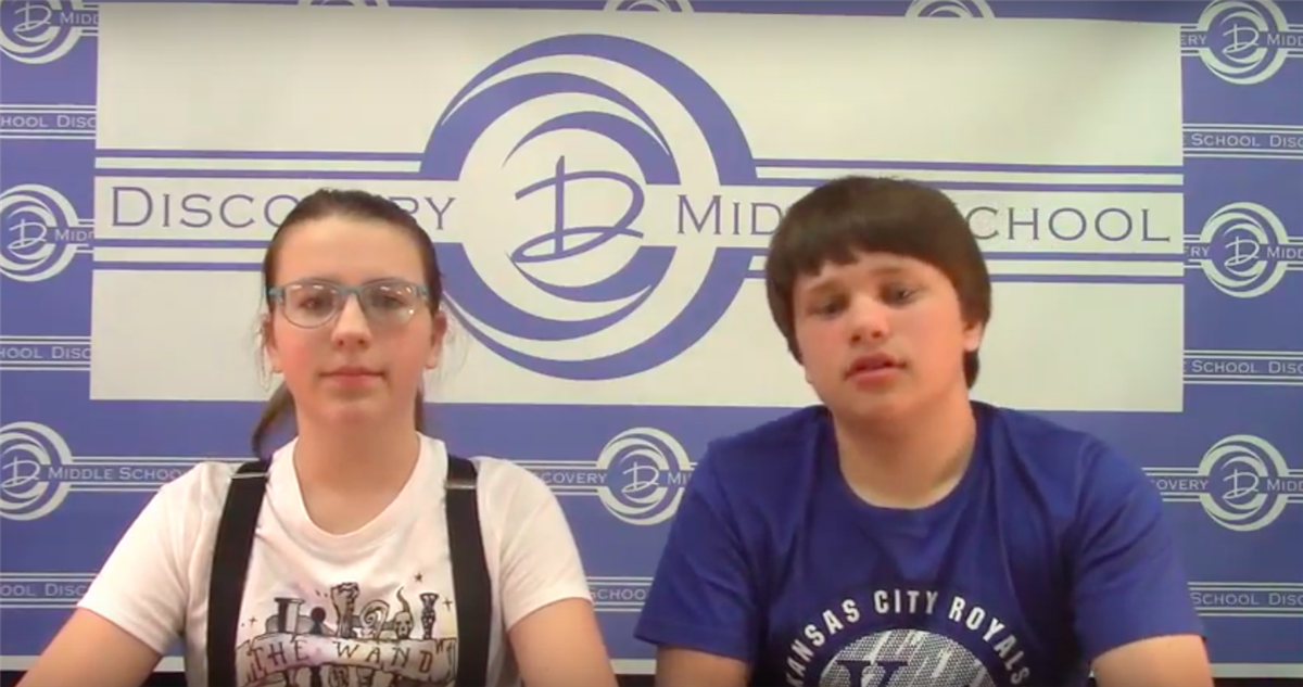 Discovery Middle School Broadcast #28 - April 20, 2018