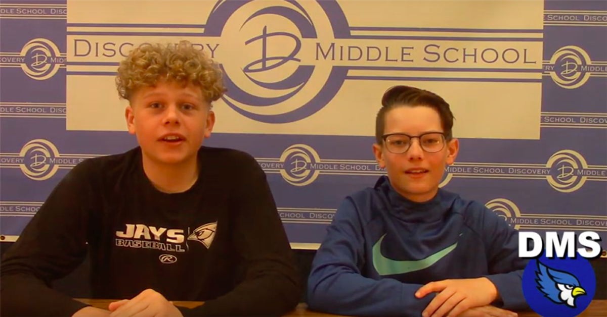 Discovery Middle School Broadcast #34 - May 17, 2019