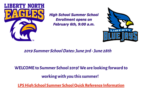 Summer school enrollment begins February 6th.  Click image for more info.