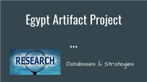 Egypt Artifact Project