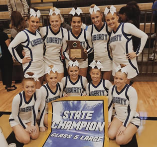 LHS Cheerleaders Champs Again!