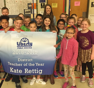 Kate Rettig is LPS Teacher of the Year
