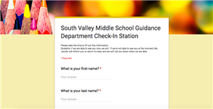 Counseling Check-In Page