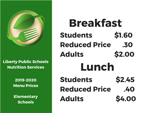 Nutrition Services Home / Menus and Pricing