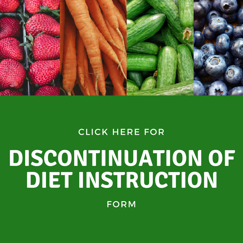 Discontinuation of Diet Instructions
