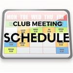 Club Meeting Schedule