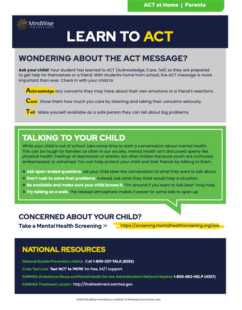ACT for Parents at home