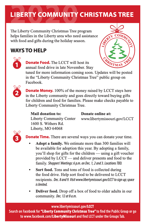 Liberty Community Center Christmas Event 2020 Resources & Upcoming Events / Overview